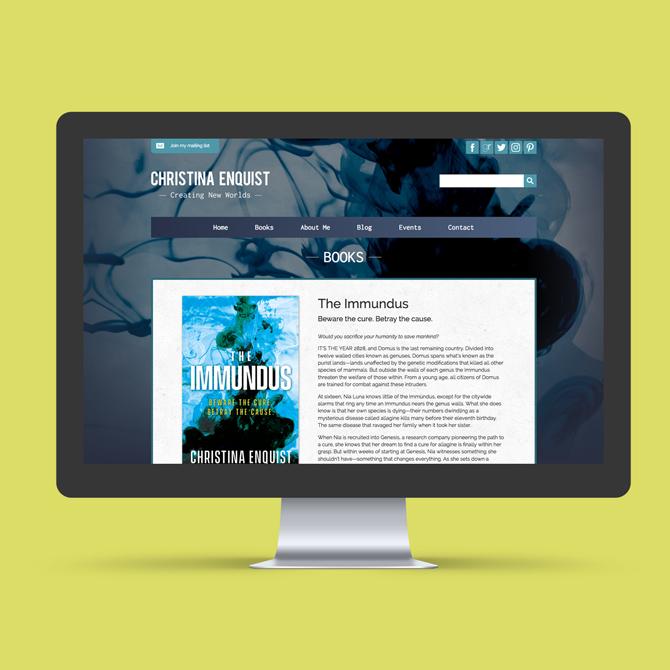 Christina Enquist Website Design