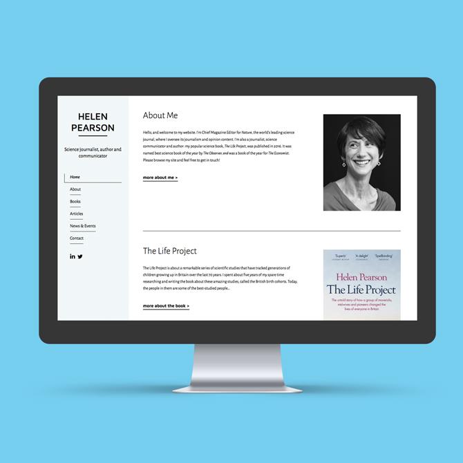 Helen Pearson Website Design